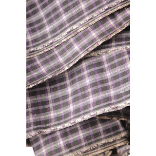 Purple Plaid Fabric French Antique Shirting Cloth By The Yard Upholstery Projects Pillows Clothes Making Sewing Vintage For Sale