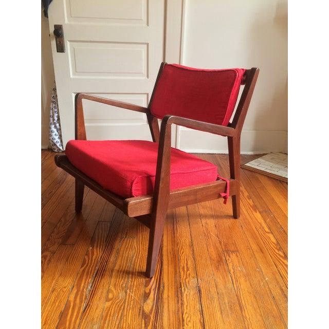 Mid-Century Walnut Lounge Chair - Image 2 of 10