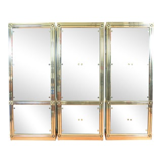 MasterCraft Brass & Glass Cabinet For Sale