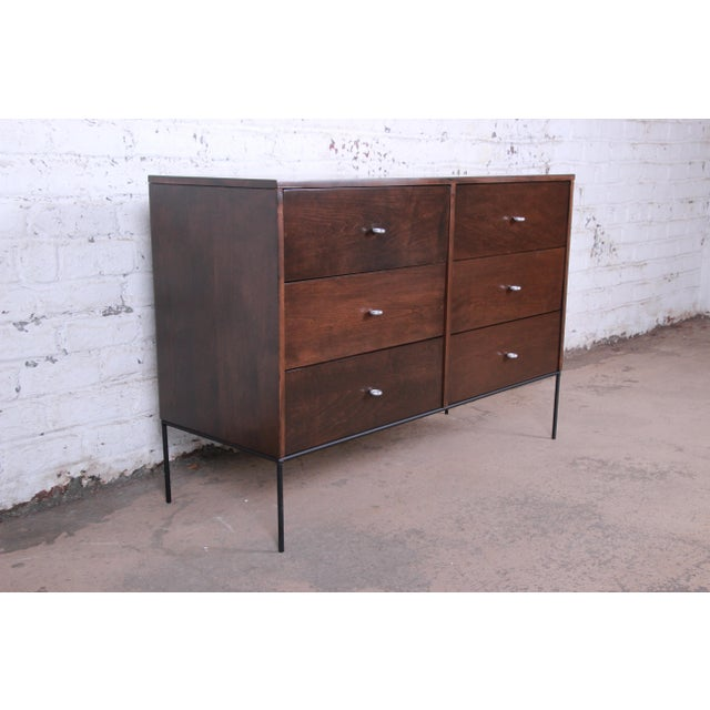 Planner Group Paul McCobb Planner Group Iron Base Six-Drawer Dresser or Credenza For Sale - Image 4 of 13