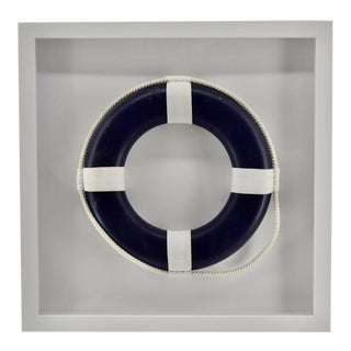 Blue Life Ring in White Frame, for the Beach House For Sale