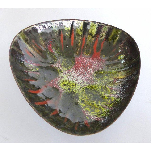 Copper Enameled Abstract Vide Poche For Sale In Los Angeles - Image 6 of 7