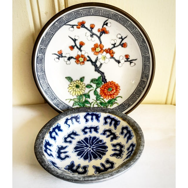 Midcentury Asian Chinoiserie Decor Trays Bowls For Sale - Image 12 of 12