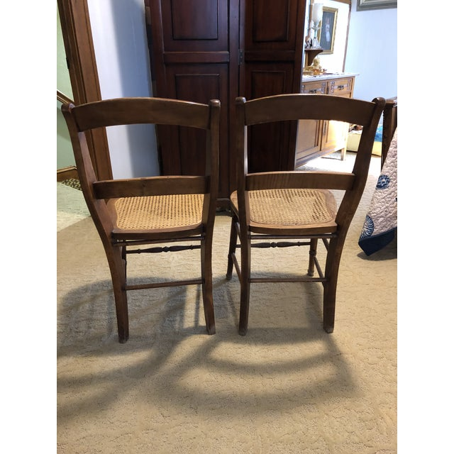"""Kuchin Caned Side Chairs """"Little Cow"""" - A Pair For Sale - Image 4 of 6"""
