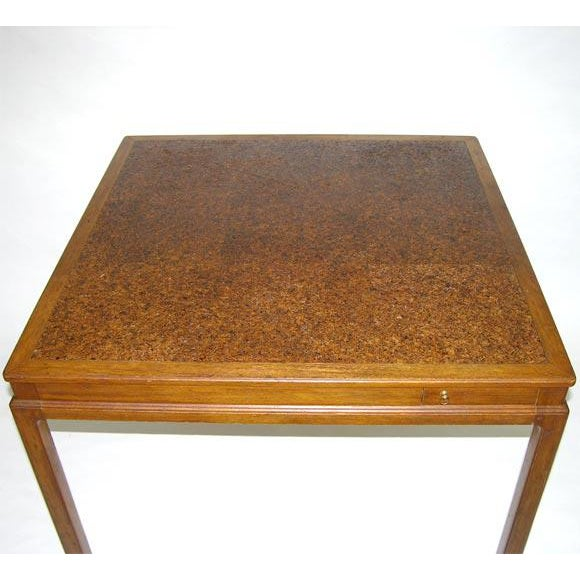 Dunbar Furniture Cork Top Game Table by Edward Wormley for Dunbar For Sale - Image 4 of 7