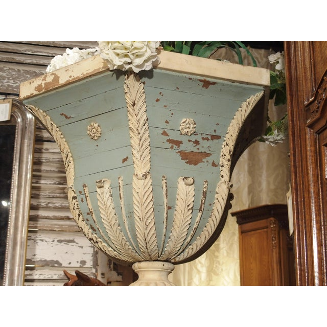 Large and Unique 18th Century Painted Wooden Jardiniere From Bruges For Sale - Image 4 of 13