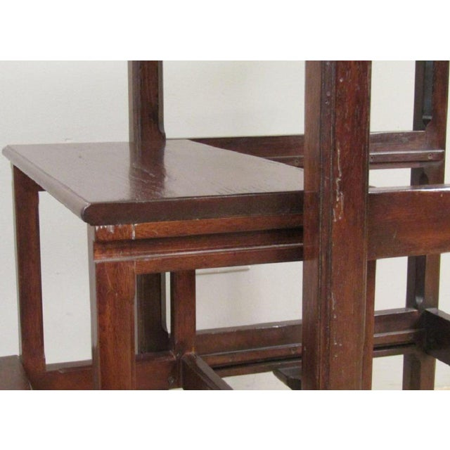2000s Chippendale Rose Tarlow Dark Walnut Table With Pullout Library Steps For Sale - Image 5 of 7