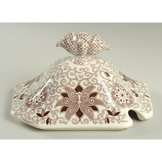 Yellow Mason's Bow Bells Brown Tureen & Lid For Sale - Image 8 of 11