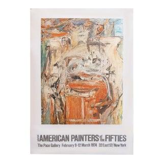 1974 American Exhibition Poster, De Kooning