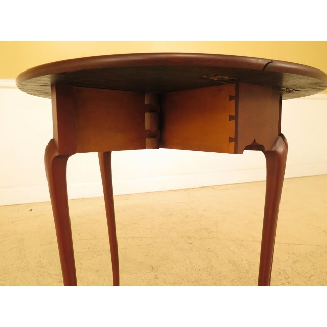 Eldred Wheeler Cherry Queen Anne Drop Leaf Occasional Table For Sale - Image 9 of 13