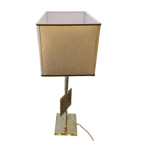 "Sculptural Cast Bronze ""Tea"" Table Lamp by Esperia For Sale In New York - Image 6 of 6"
