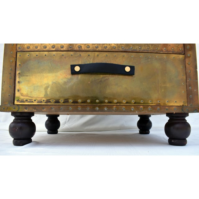 Modern Sarreid Brass 3-Drawer Chest For Sale - Image 3 of 8
