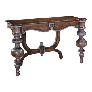 Portico Console Swedish Moss Accents Rustic For Sale