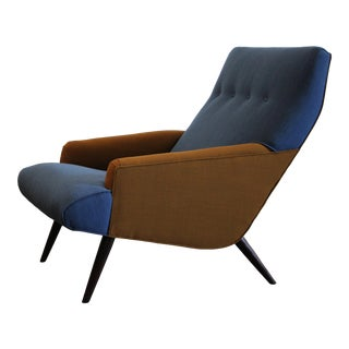 1950s Gio Ponti Style Lounge Chair For Sale