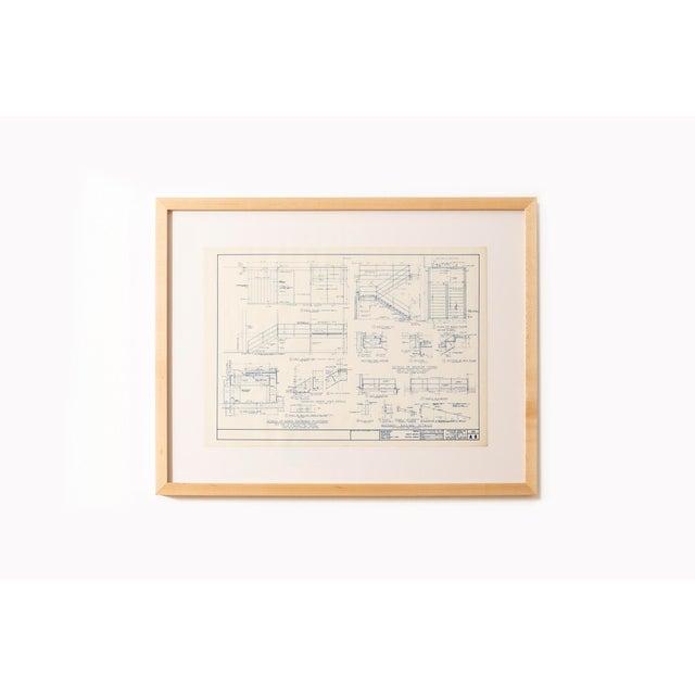 Mies Van Der Rohe Blueprint, Crown Hall, Chicago, 1954, North Platform For Sale - Image 13 of 13