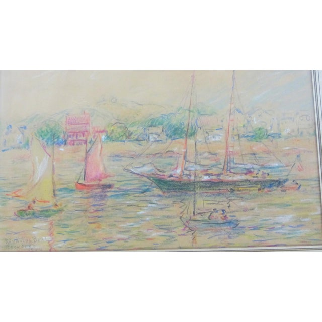 "Mid-Century Modern ""Rockport"" Signed Dated Original by ReynoldsBeal For Sale - Image 3 of 9"