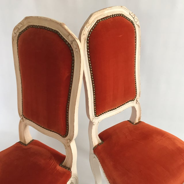 White Lacquered Italian Hall Chairs - a Pair For Sale - Image 8 of 11