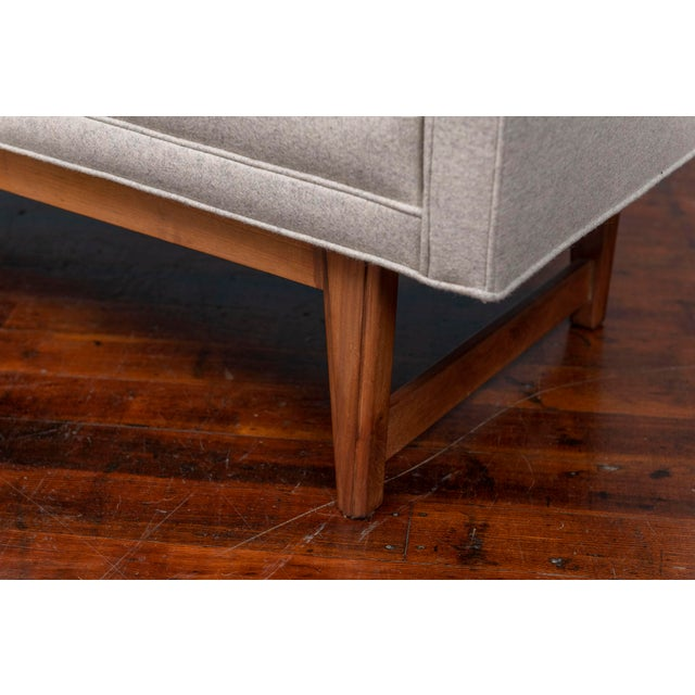 Mid-Century Modern Upholstered Bench by Selig For Sale In San Francisco - Image 6 of 8