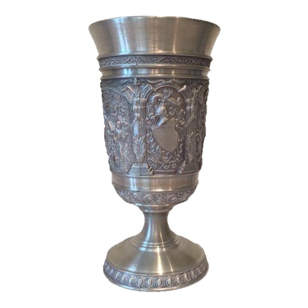 Vintage Embossed Pewter Cups - Set of 4 - Image 4 of 9