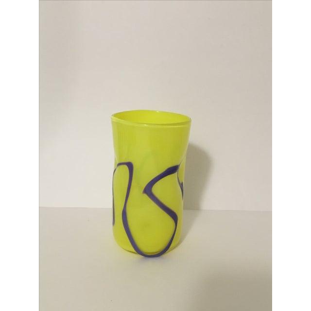 Memphis-Style Handblown Art Glass Vase - Image 2 of 7