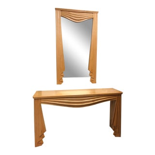 Hollywood Regency Console and Matching Mirror For Sale