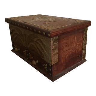 Tanzanian Handmade Wooden Box With Drawers For Sale