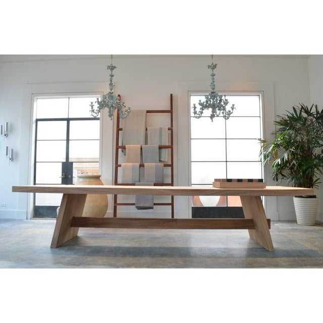 OZ|Shop Monkey Pod Campaign Dining Table For Sale In Phoenix - Image 6 of 6