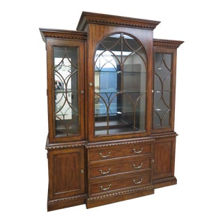 Traditional Pennsylvania House Glass and Cherry Wood China Cabinet For Sale