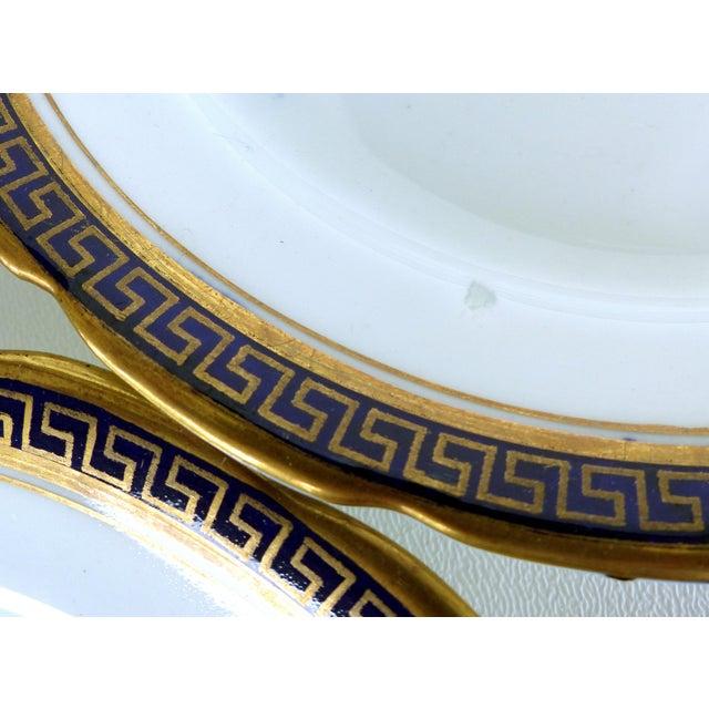Desert Set W/ Blue & Gold Greek Key by Jackson & Coslinc , England- Set of 8 For Sale - Image 9 of 12