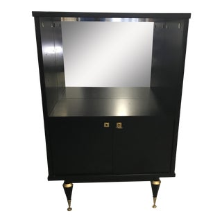 French Art Deco Ebonized Dry Bar Cabinet 1940's