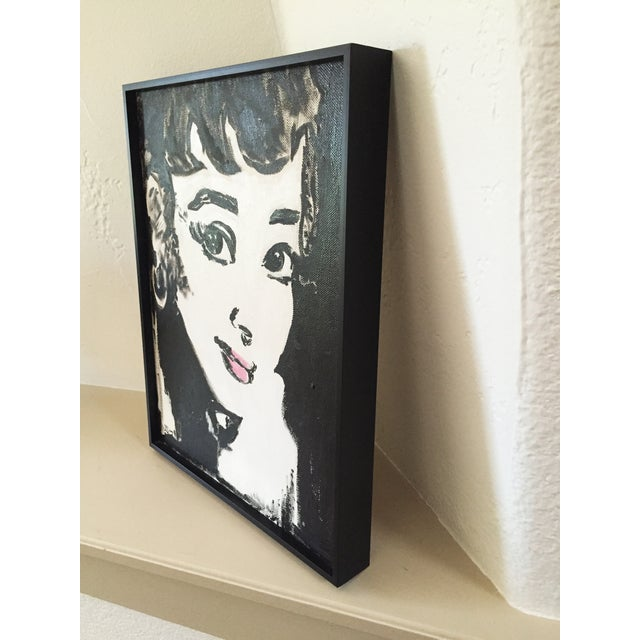 """Audrey"" was created in 2004 and is made out of acrylic. It comes with a custom made frame."