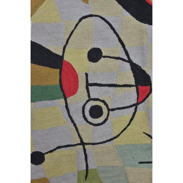 """Cubism Cubist Hand-Stitched Wool 'Cubist' Rug -- 3' X 4'10"""" For Sale - Image 3 of 5"""