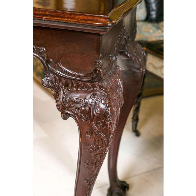English Georgian Mahogany Console Tables - A Pair For Sale - Image 5 of 10
