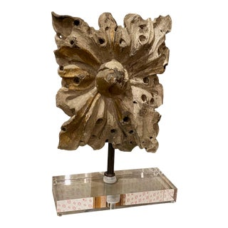 18th Century Architectural Fragment on Acrylic Stand For Sale