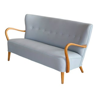 1940s Danish Sofa With Open Armrests by Alfred Christensen for Slagelse For Sale