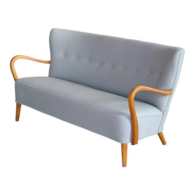 1940s Danish Sofa With Open Armrests by Alfred Christensen for Slagelse For Sale