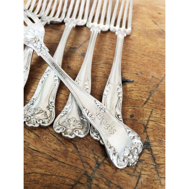 Edwardian Antique Gorham Silver Forks From the St Regis Hotel - Set of 10 For Sale - Image 3 of 9