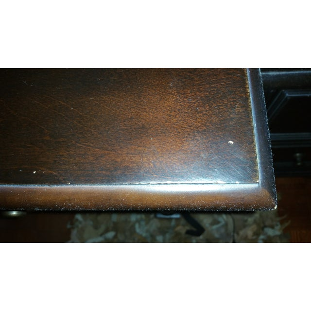 Solid Wood Dark Brown Desk with Hutch by Pulaski - Image 4 of 4