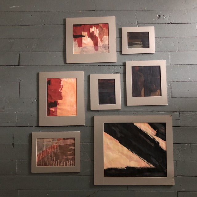 Original Vintage Ray Kinlock Abstract Paintings on Fabric - Collection of 7 For Sale - Image 9 of 9