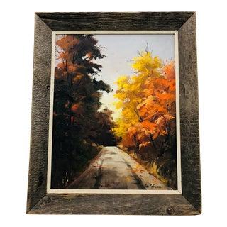 Original Oil Painting Landscape in Frame For Sale