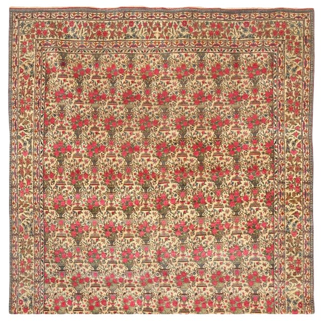 Extremely Finely Woven Antique Persian Zili Sultan Carpet For Sale