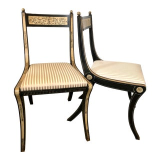 Vintage Empire Style Side Chairs, a Pair For Sale
