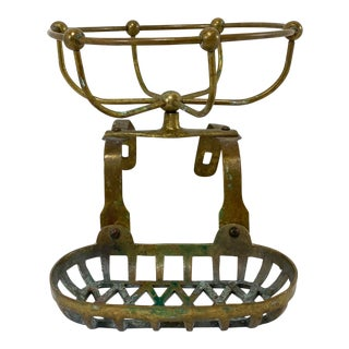 Antique Brass Bathtub Soap Caddy For Sale