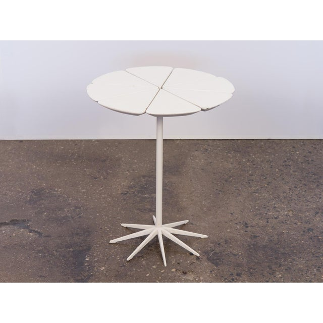 "Original vintage Petal End Table by Richard Schultz for Knoll. This lovely end table adorns eight individual ""petals""..."