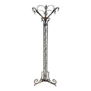 Mission Style Italian Iron Floor Lamp For Sale