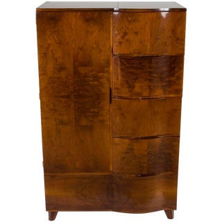 1960s Art Deco Bedroom Wardrobe Armoire For Sale
