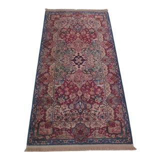 Vintage Karastan Kirman Panel Throw Rug- 2′11″ × 6′ For Sale