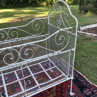 1900s Shabby Chic Wrought Iron Crib Preview