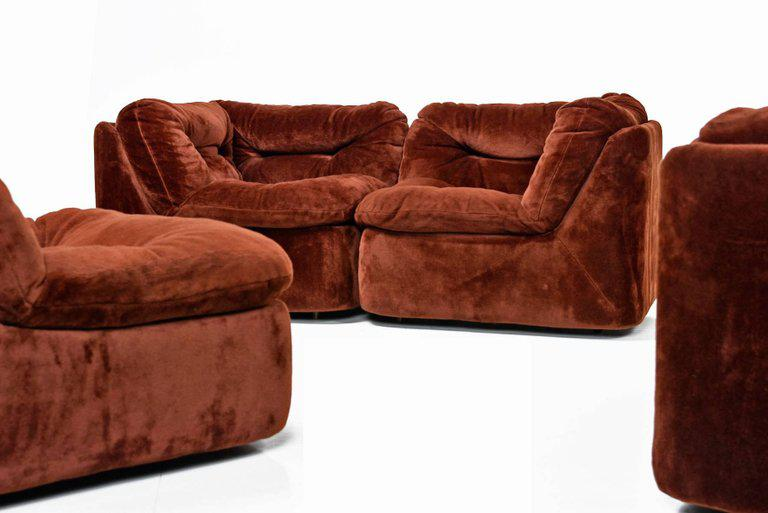Superb Mid Century Modern 1970s Sofa Sectional Pit Group   Image 3 Of 8