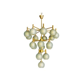 Barovier Gray Murano Glass Chandelier For Sale